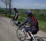 on the hill risges roads in Magliano Sabina