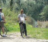 Riding along the Tiber