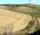 Santuario Etrusco dell'Ara della Regina in lontananza
